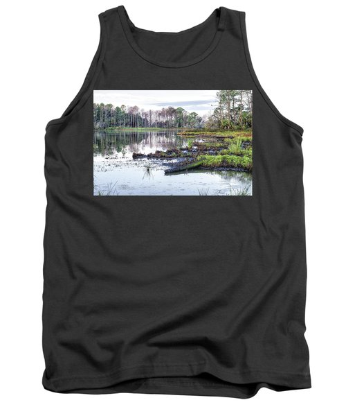 Coosaw - Early Morning Rice Field Tank Top