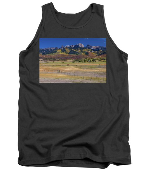 Tank Top featuring the photograph Courthouse Mountains And Chimney Rock Peak by James BO Insogna