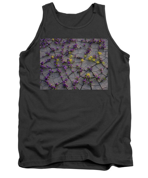 Cracked Blossoms II Tank Top