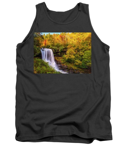 Tank Top featuring the photograph Cullasaja Falls In Full Bloom by Andy Crawford