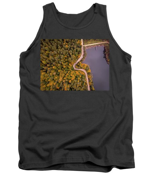 Curved Road At Lakeside Tank Top