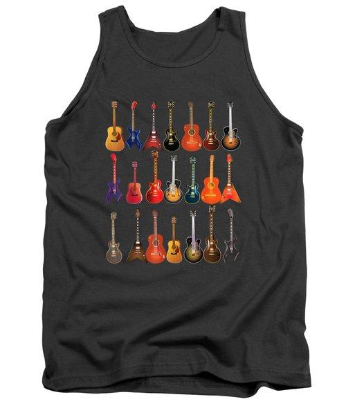 Cute Guitar Rock N Roll Musical Instruments Shirt Gift Tank Top