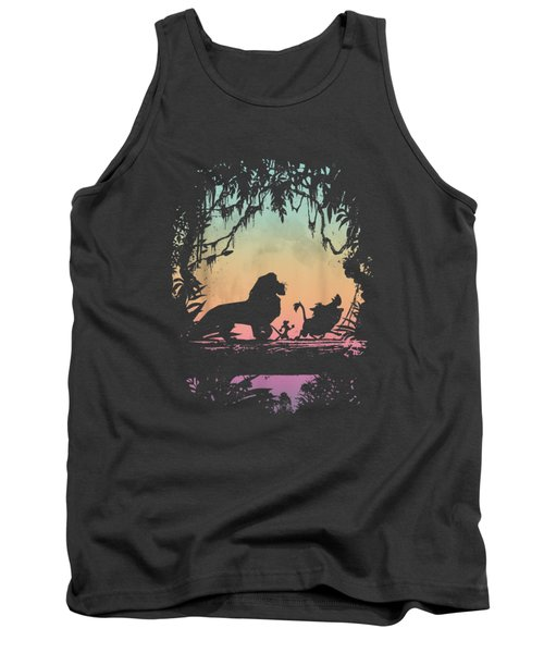 Disney Lion King Gradient Jungle Trio Graphic T-shirt Tank Top