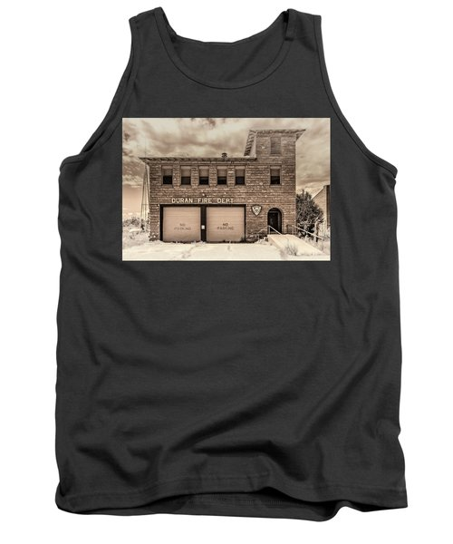 Tank Top featuring the photograph Duran Fire Dept by Lou Novick