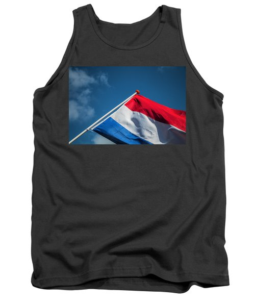 Tank Top featuring the photograph Dutch Flag by Anjo Ten Kate