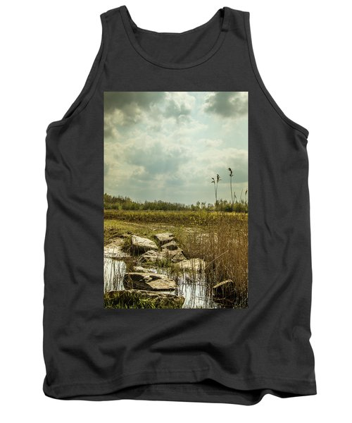 Tank Top featuring the photograph Dutch Landscape. by Anjo Ten Kate