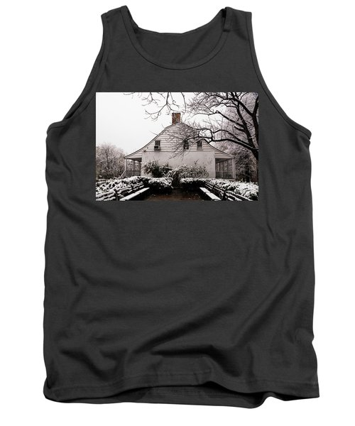 Tank Top featuring the photograph Dyckman Farmhouse In Winter by Cole Thompson