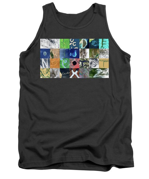 Earth Alphabet From Space Tank Top