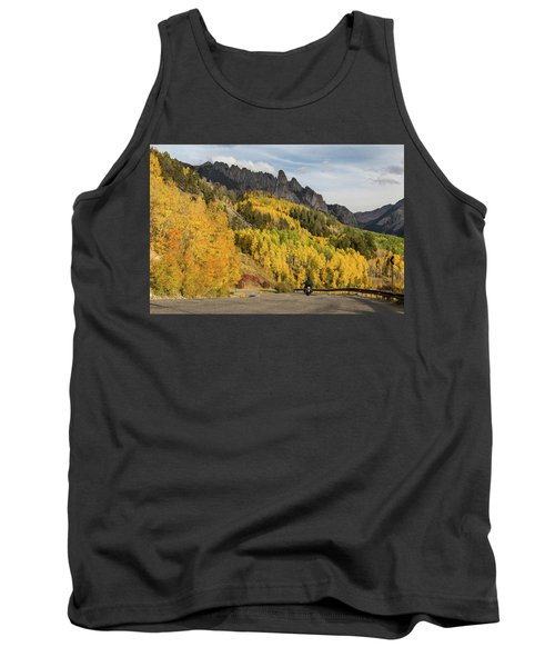 Tank Top featuring the photograph Easy Autumn Rider by James BO Insogna