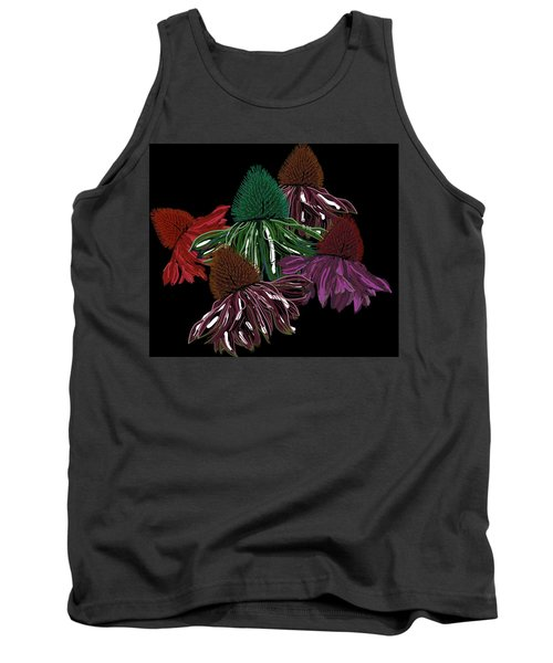 Echinacea Flowers With Black Tank Top