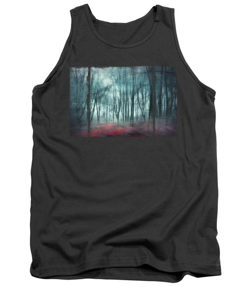 Escape Route - Misty Forest Scenery Tank Top