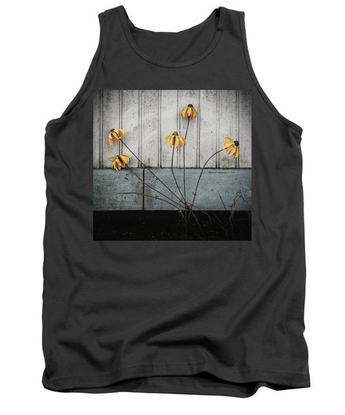 Fake Wilted Flowers Tank Top