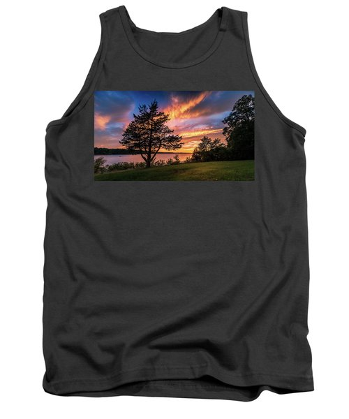 Fishing At End Of Day Tank Top