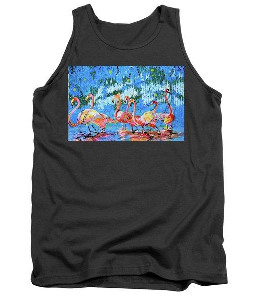Flamingo Pat Party Tank Top