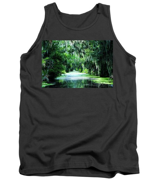 Flush With Green Tank Top