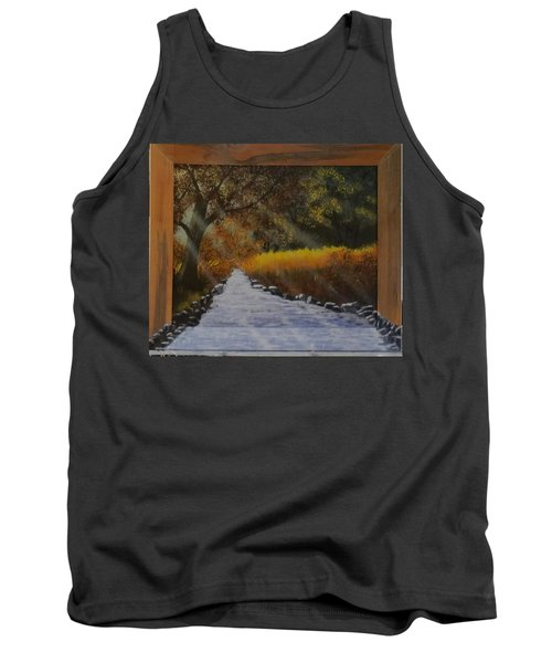 Forest Sunrays Over Water Tank Top