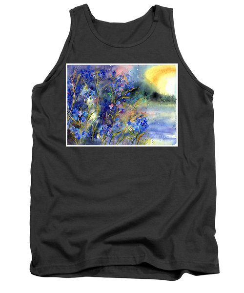Forget-me-not Watercolor Tank Top