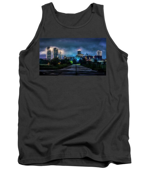 Tank Top featuring the photograph Fort Worth Lights by David Morefield