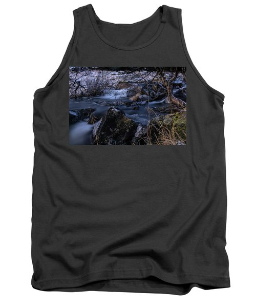 Frozen River And Winter In Forest. Long Exposure With Nd Filter Tank Top
