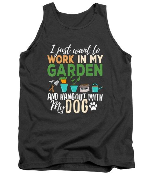 Gardening T-shirt Dog Lover Gardener Garden Pet Gift Plants Tank Top