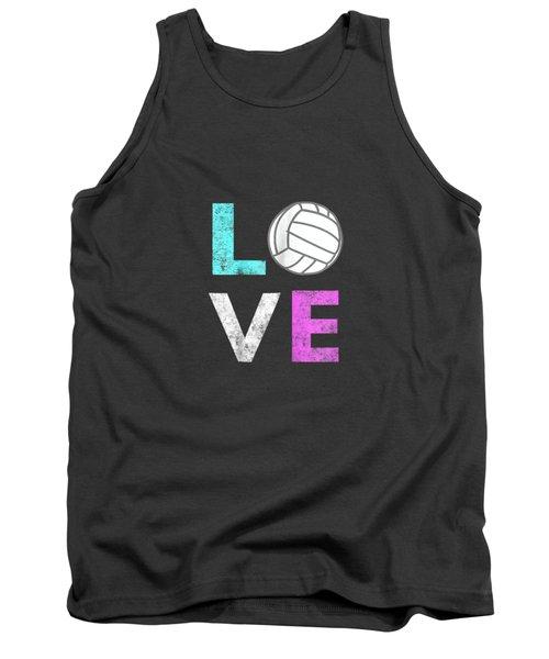 Girls Love Volleyball Best Fun Birthday Gift Tshirt Tank Top