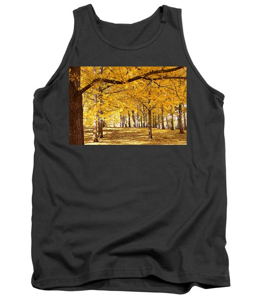 Golden Ginkgo Tank Top