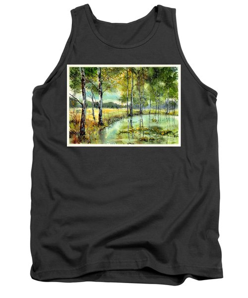Gorgeous Water Lilies Bloom Tank Top
