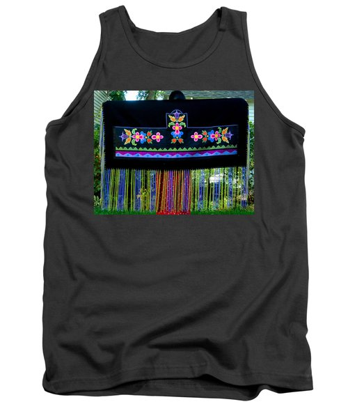Tank Top featuring the tapestry - textile Grand Mothers Garden by Chholing Taha