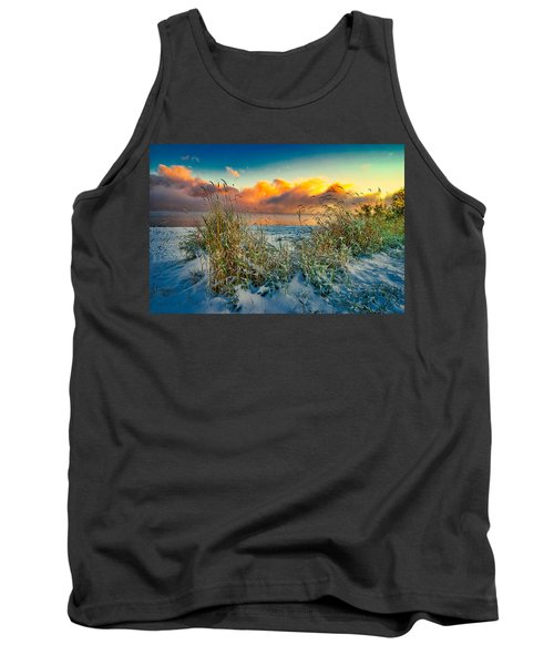 Grass And Snow Sunrise Tank Top
