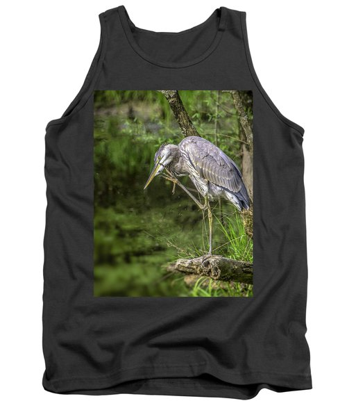 Great Blue Heron Itch Tank Top