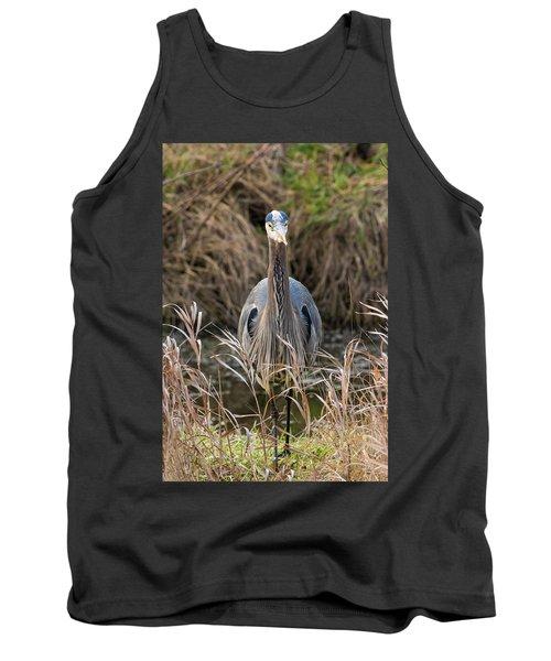 Great Blue Heron Portrait Tank Top