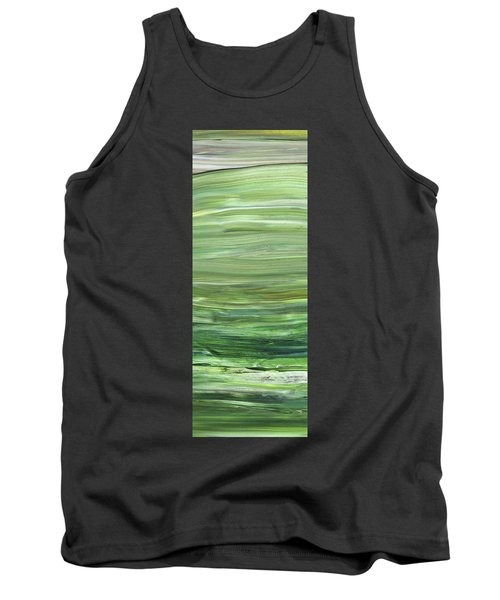 Green Abstract Meditative Brush Strokes I Tank Top