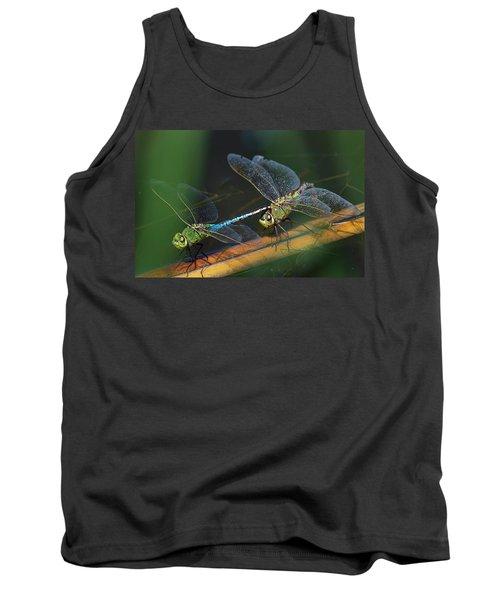 Green Darner Dragonfly Mating Wheel Tank Top