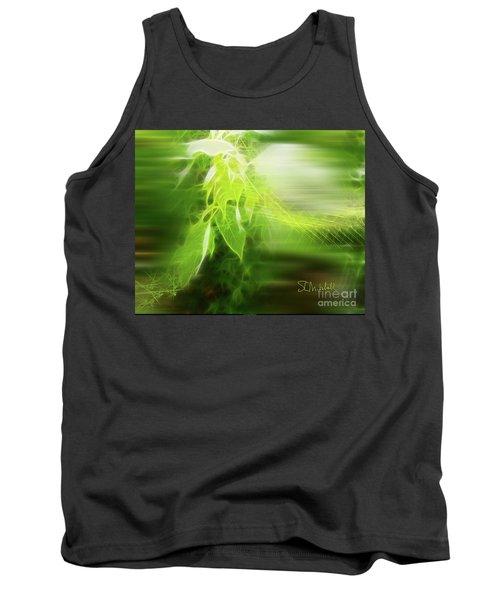 Green Leaves Tank Top