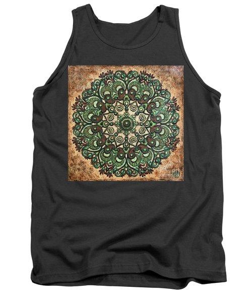 Green Mandala Tank Top