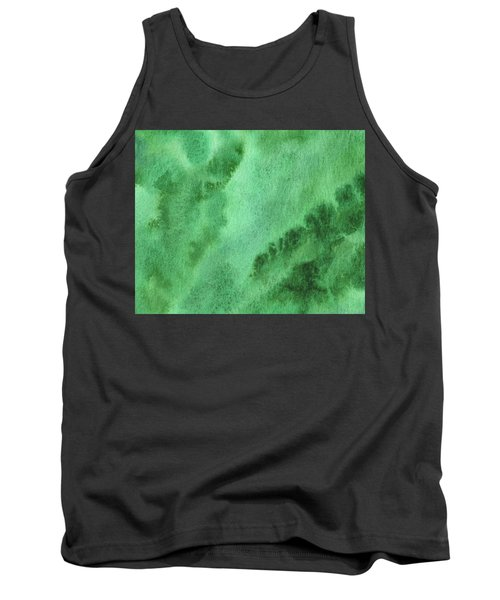 Green Splashes And Glow Abstract Watercolor  Tank Top