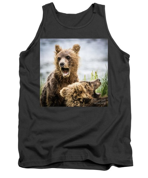 Grizzly Cubs Looking For Their Mum Tank Top
