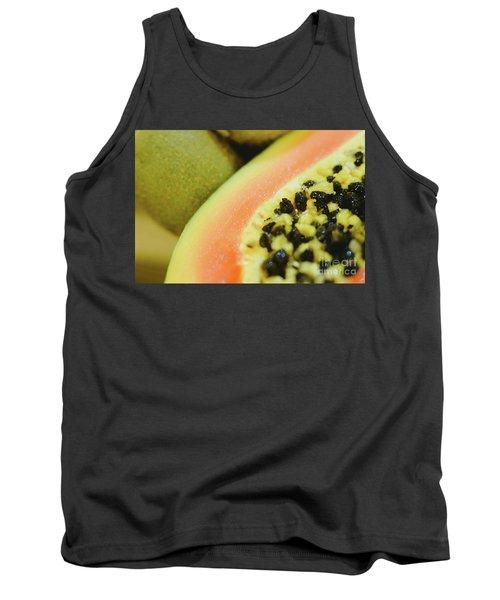 Group Of Fruits Papaya, Grape, Kiwi And Bananas Tank Top