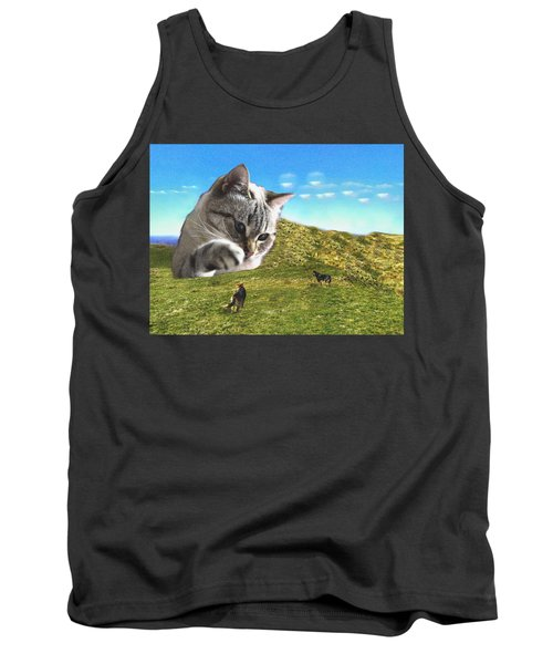 Gulliver's Cat Meets Abbie's Dogs  Tank Top