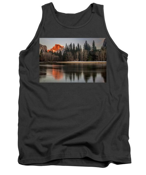 Half Dome Sunset In Winter Tank Top