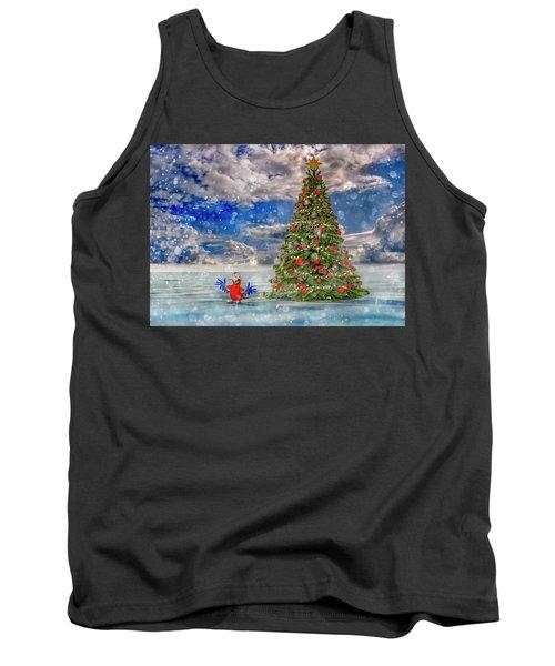 Happy Christmas Parrot Tank Top