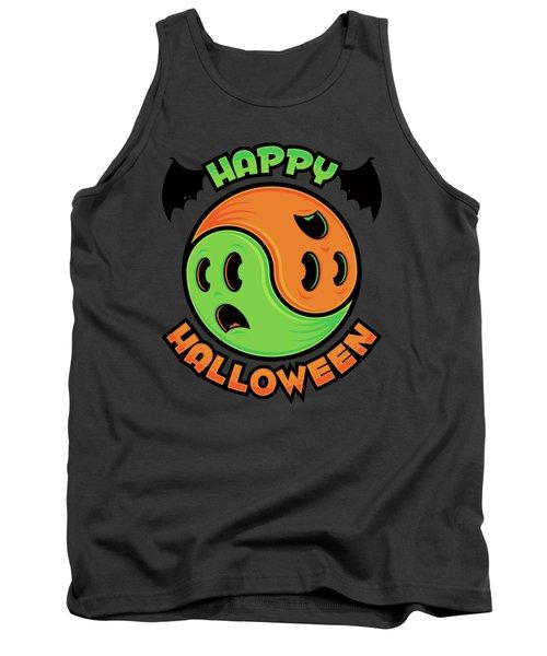 Happy Halloween Ghost Yin-yang Tank Top