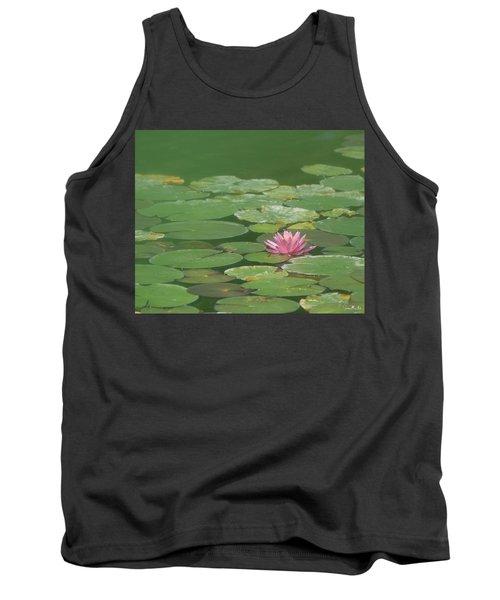 Harmonious Pink Waterlily Tank Top