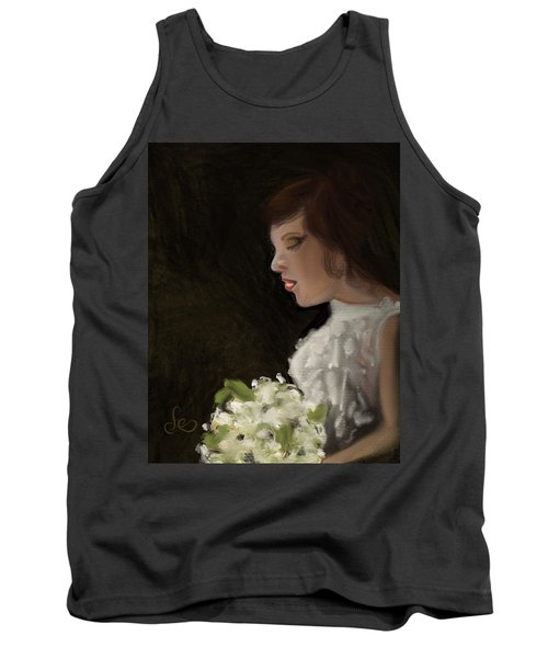 Tank Top featuring the painting Her Big Day by Fe Jones