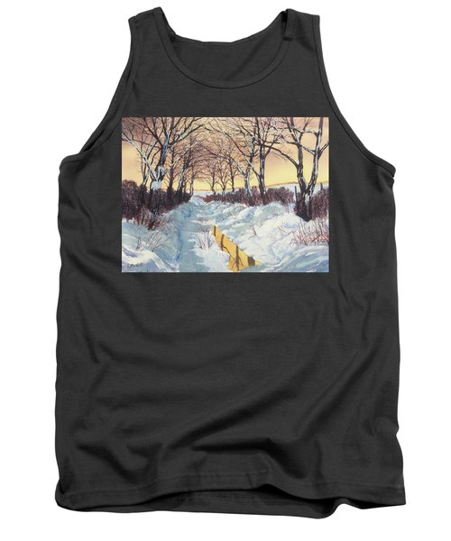 Tunnel In Winter Tank Top