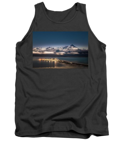 Homer Spit With Moonlit Mountains Tank Top