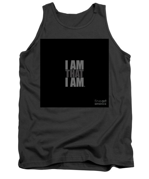 Tank Top featuring the digital art I Am That I Am by Tim Gainey