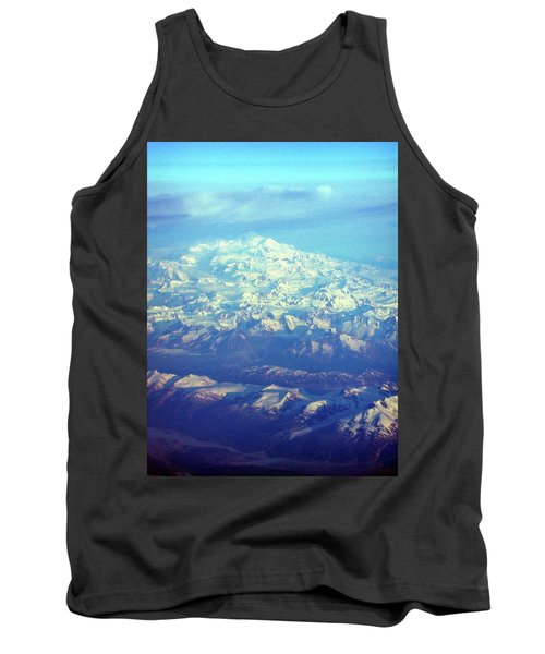 Ice Covered Mountain Top Tank Top