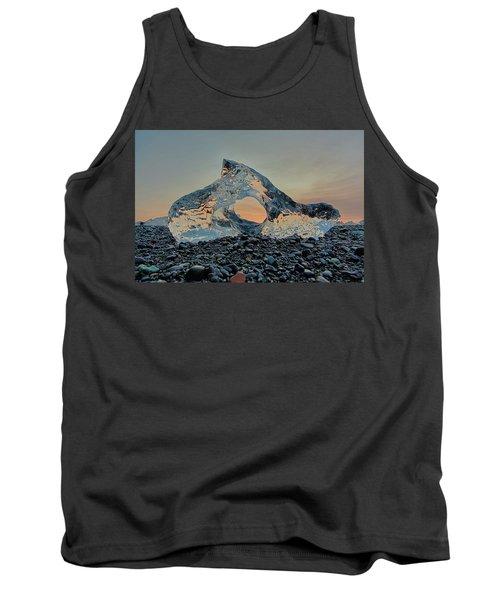 Iceland Diamond Beach Abstract  Ice Tank Top
