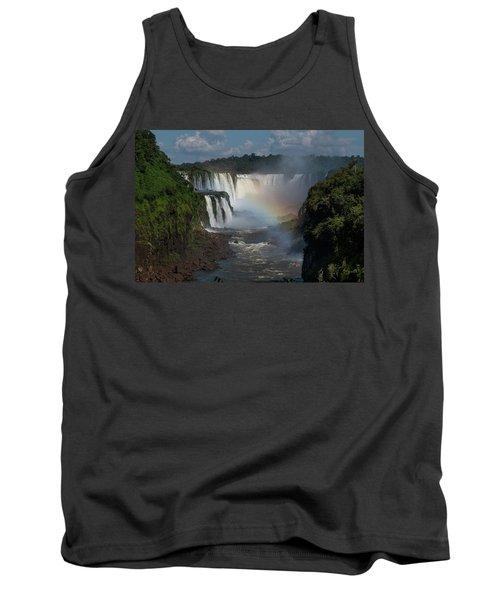 Iguazu Falls With A Rainbow Tank Top